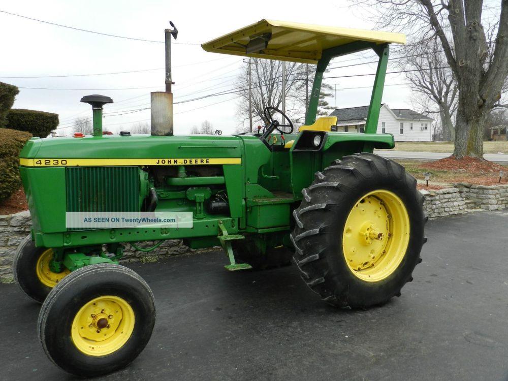 medium resolution of john deere 4230 tractor u0026 canopy top diesel 1282 hours john deere 4230 tractor wiring diagram