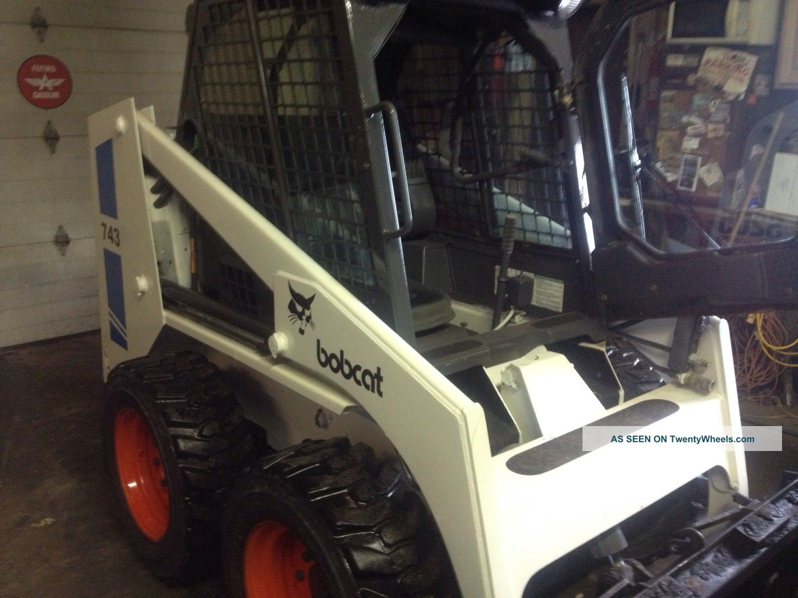 hight resolution of bobcat 743 skid steer loader diesel enclosed cab and heat 2080 hrs bob cat