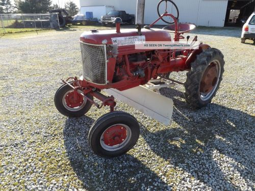 small resolution of mccormick farmall cub tractor with blade and plow attachments wheel rh twentywheels com 1948 farmall cub