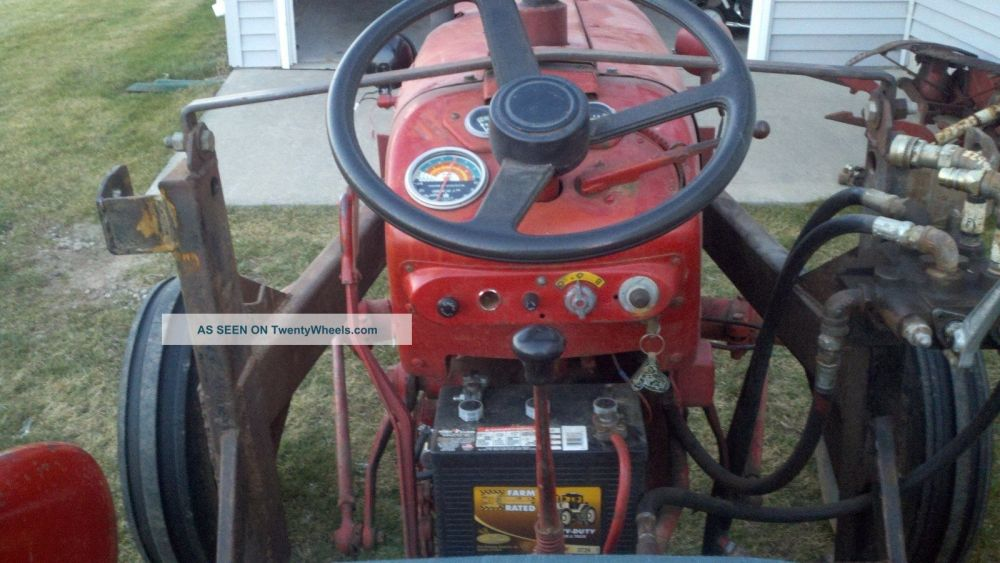 medium resolution of  1957 ih 350 utility tractor with loader tractors photo 4