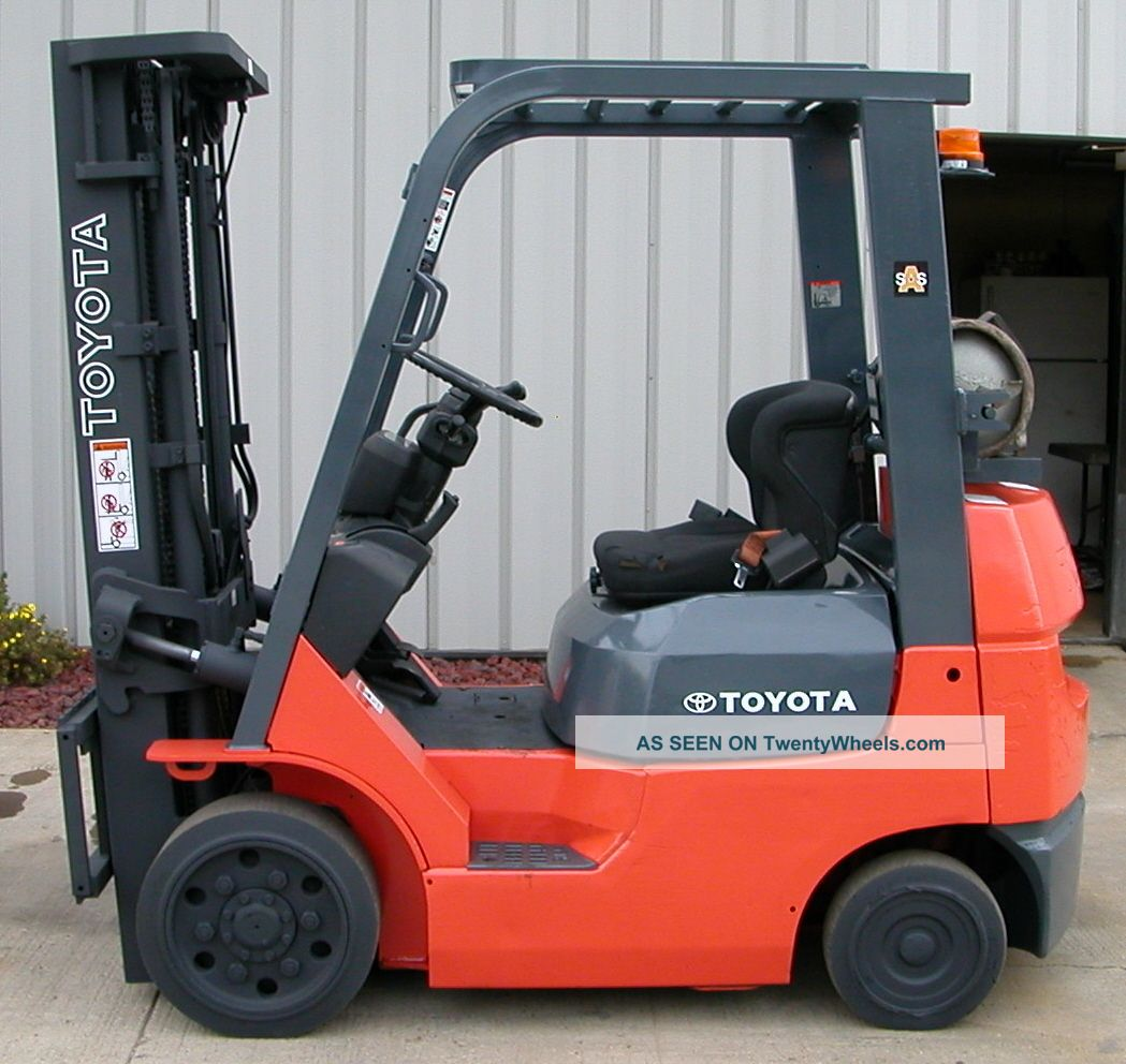 Toyota Model 7fgcu20 2003 4000lbs Capacity Lpg Cushion Tire Forklift