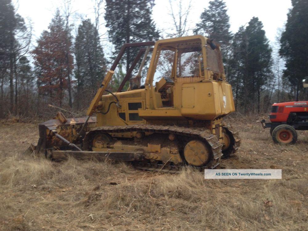medium resolution of john deere 750b dozer crawler tractor 750 diesel w root rake limb risers