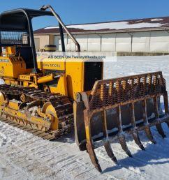 1979 john deere 450cc crawler dozer tractor diesel engine orops root rake blade [ 1600 x 900 Pixel ]