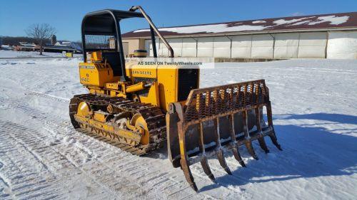 small resolution of 1979 john deere 450cc crawler dozer tractor diesel engine orops root rake blade