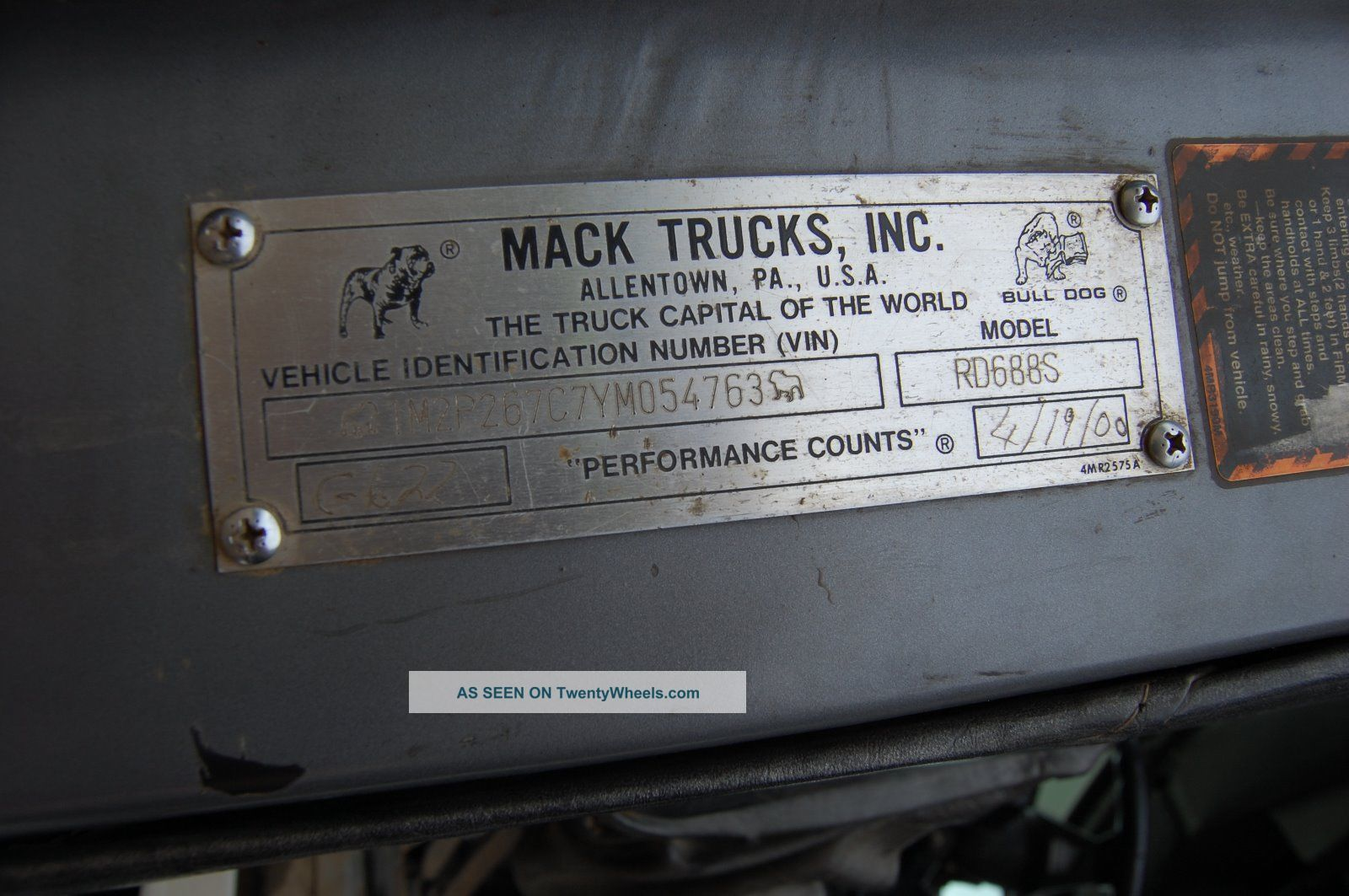 Wiring Diagrams For 2001 Mack Rd688s Truck