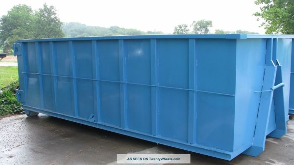 20 yard hooklift waste container