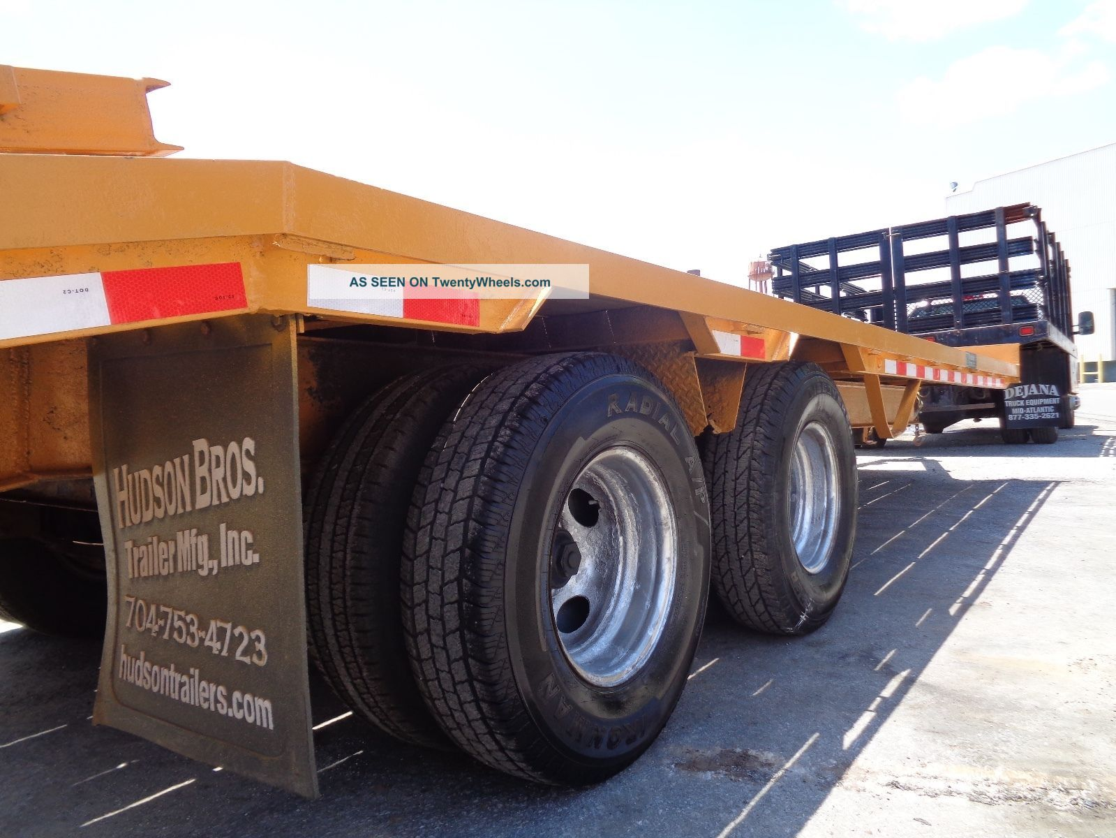 hight resolution of 2006 hudson htd180 tag along 10 ton equipment flat bed trailer 25 ft long