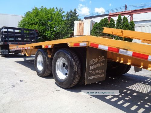 small resolution of 2006 hudson htd180 tag along 10 ton equipment flat bed trailer 25 ft long