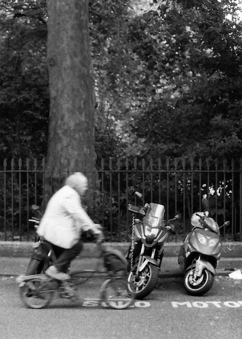 Cycling gentleman