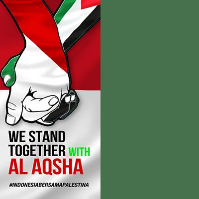 Indonesia Bersama Palestina  Support Campaign  Twibbon