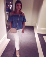 Top - Asos, Trousers - Topshop, Bag - Valentino