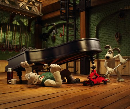 Wallace and Gromit's Musical Marvels 2019 Wallace under piano