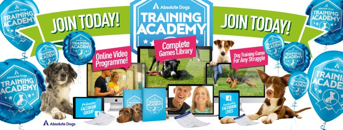Absolute Dogs Training Academy join today banner