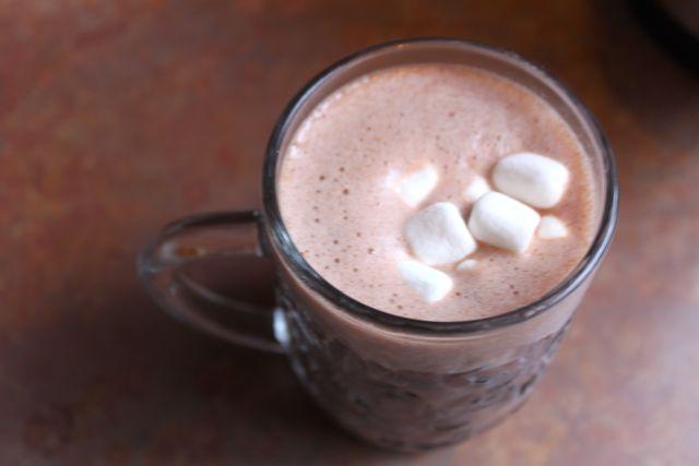 A mug of hot chocolate with marshmallows