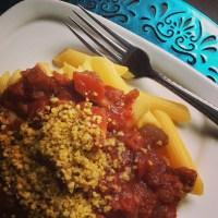 "Crock Pot Pasta Primavera ... and Vegan Almond ""Parmesan"""