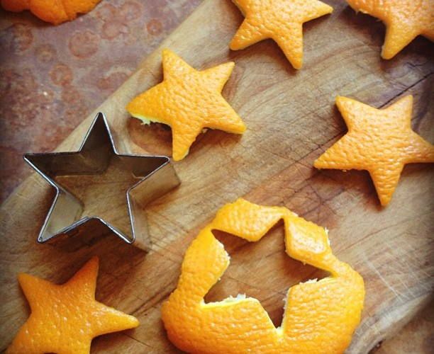 On Pinterest, Serendipity, and Orange Stars in Vinegar
