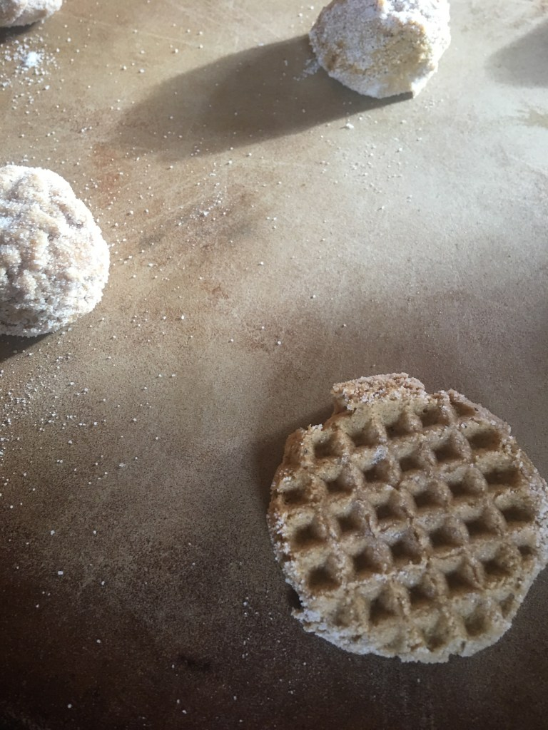Meat mallet as cookie stamp