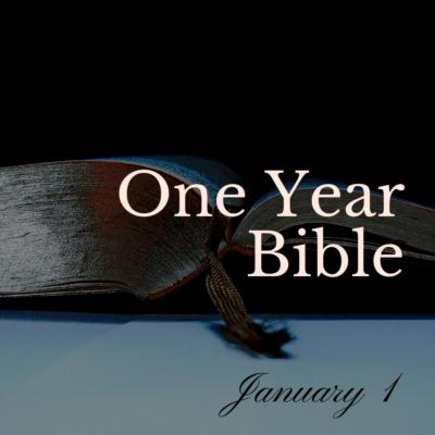 One Year Bible: January 1