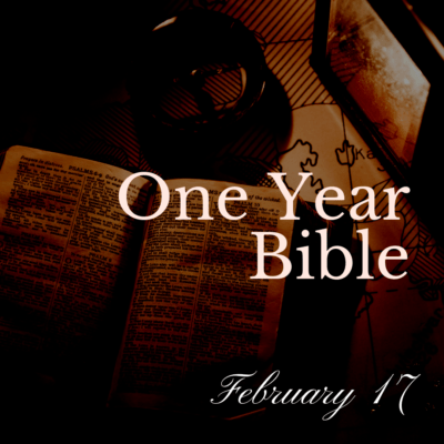 One Year Bible: February 17