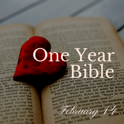 One Year Bible: February 14