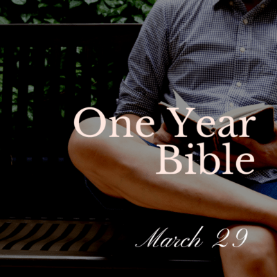 One Year Bible: March 29
