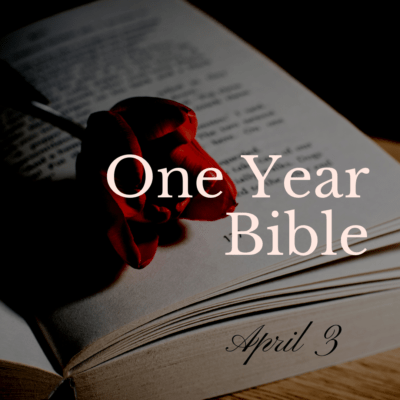 One Year Bible: April 3