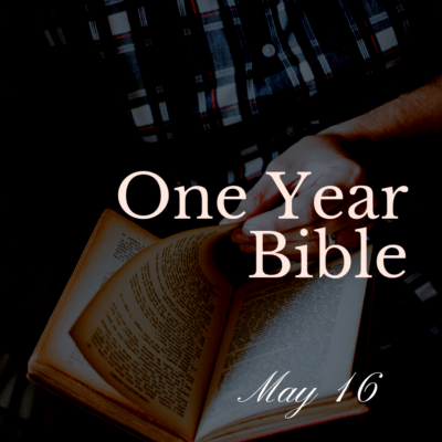 One Year Bible: May 16