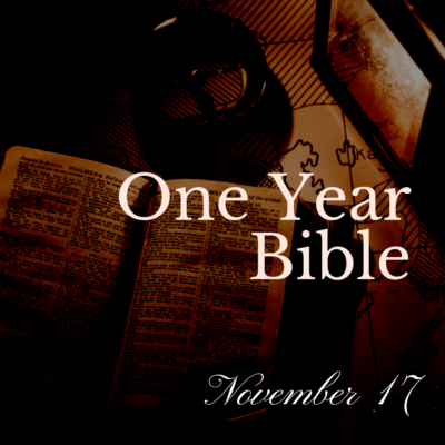 One Year Bible: November 17