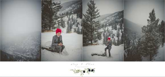 snow, family photography session Colorado