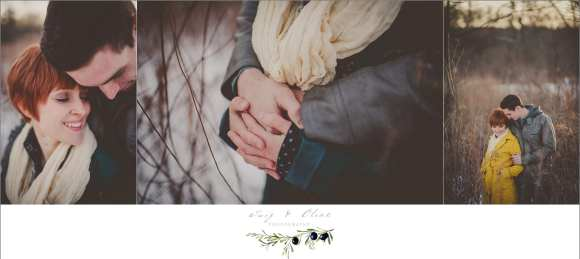 Rustic, cold weather, wintery mix, couples, engagements, Dane County WI