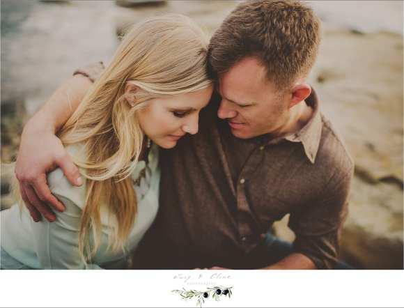 romantic couples engagement, San Diego California
