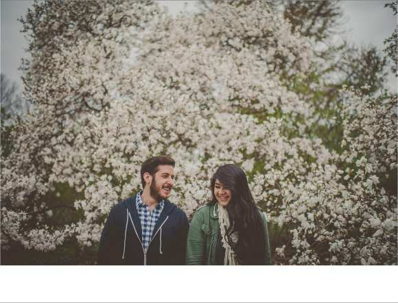 couples, cherry blossoms, madison backdrop, engagement sessions, Sun Prairie Photography