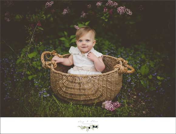 baskets, headbands, hair flowers, outdoors rustic, big eyes, happy birthday, white dresses, Twig and Olive photography