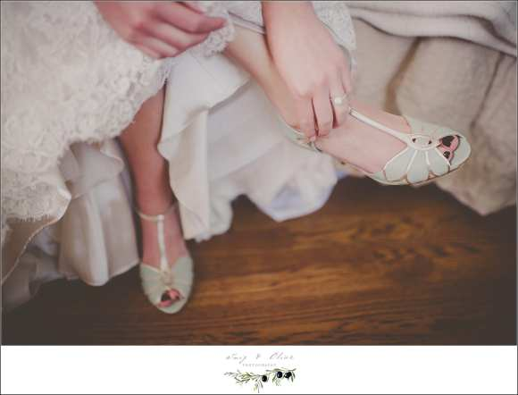 Mint green wedding shoes