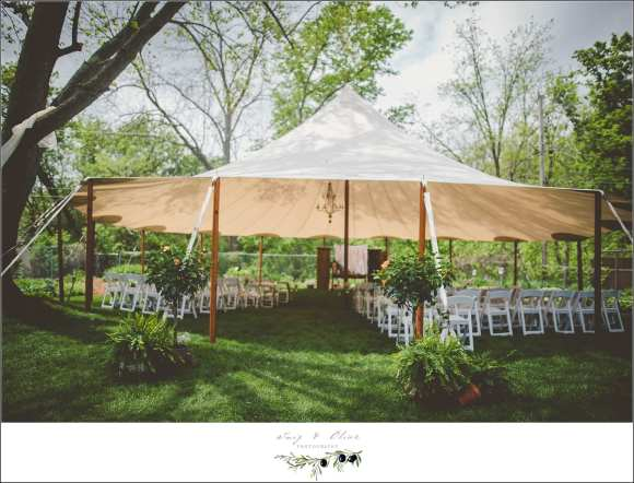 outdoor wedding ceremony in wisconsin
