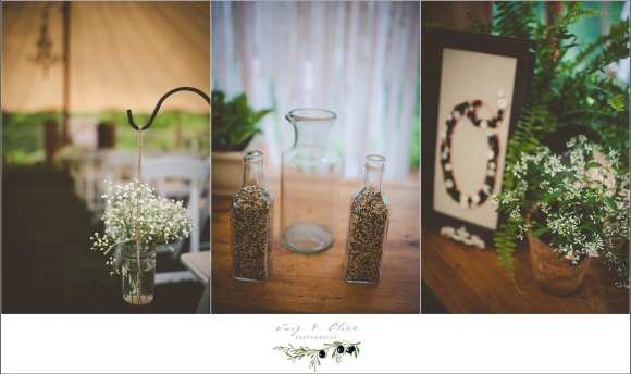 vintage inspired wedding ceremony details