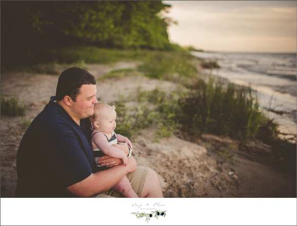 dads and kids, port washington beach