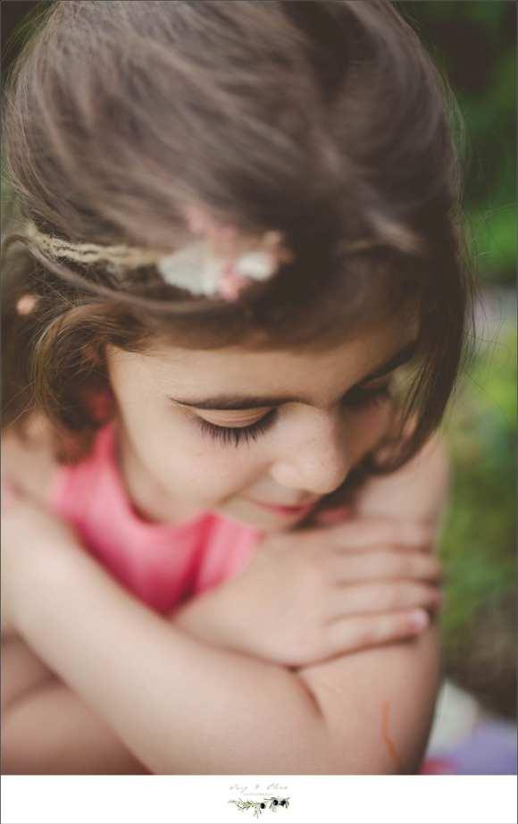 outdoor sessions, hair flower, pink dress, brown hair, big sister, angel