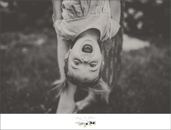 silly face, upside down pigtails, black and white images, family sessions