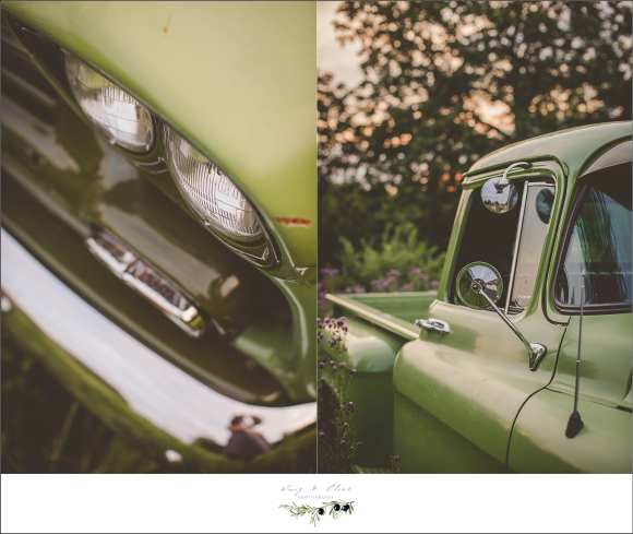 Rustic Manor, green truck, Delafield WI, vintage green truck, awesome green truck