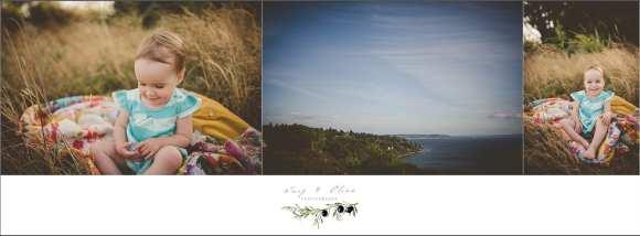 Seattle backdrop, Washington families, happy families