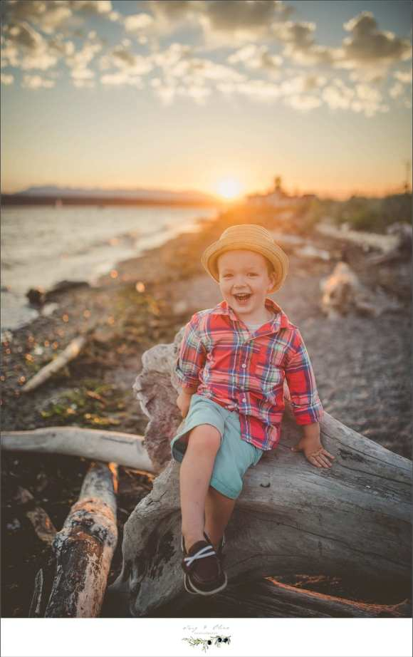 little ham, flannel, blue shorts, pacific ocean session, Twig and Olive families