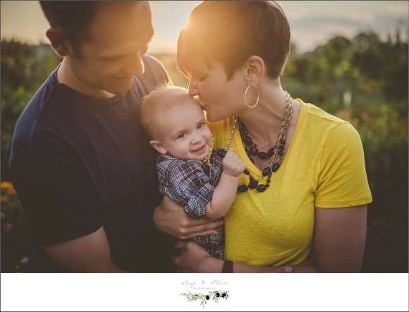 family session, yellow shirt, baby