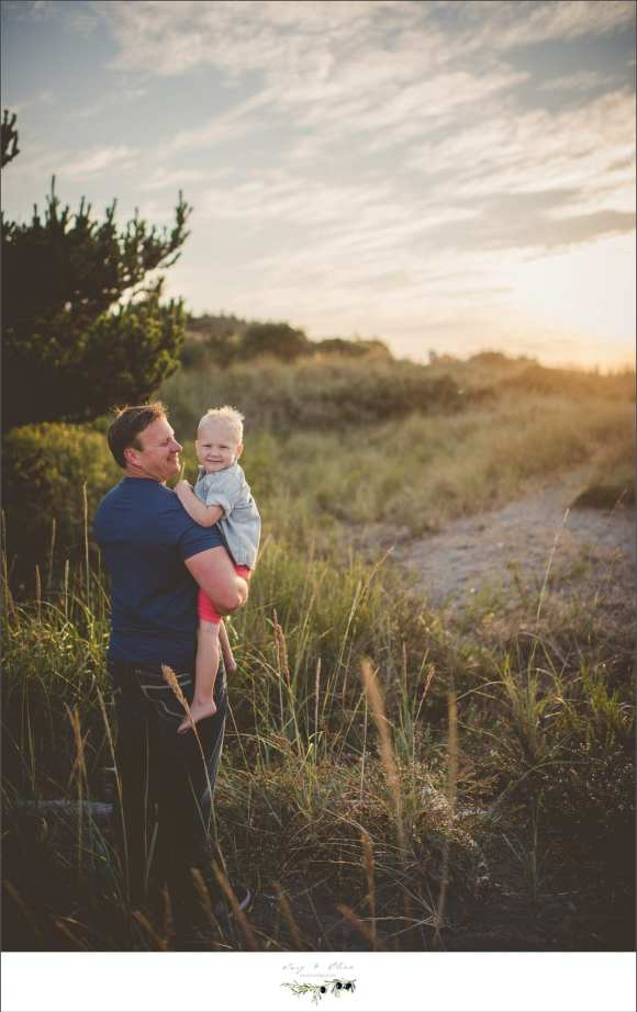 father son, prairie grass, sandy beach
