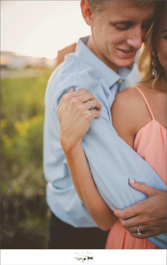 ring shot, blue shirt, pink dress, summer