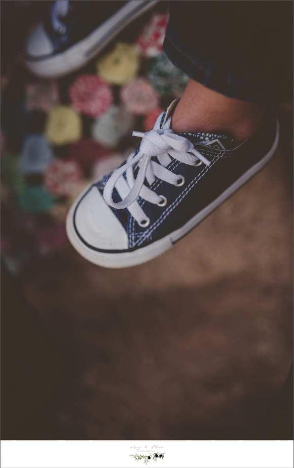 little blue shoes