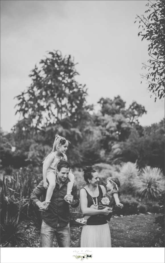 black and white family image