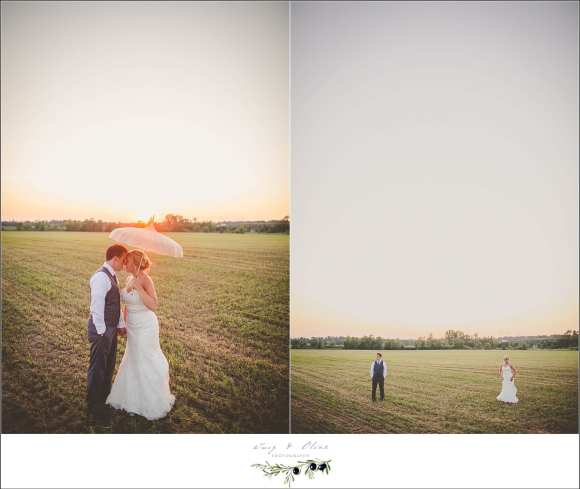 umbrella with wedding pictures