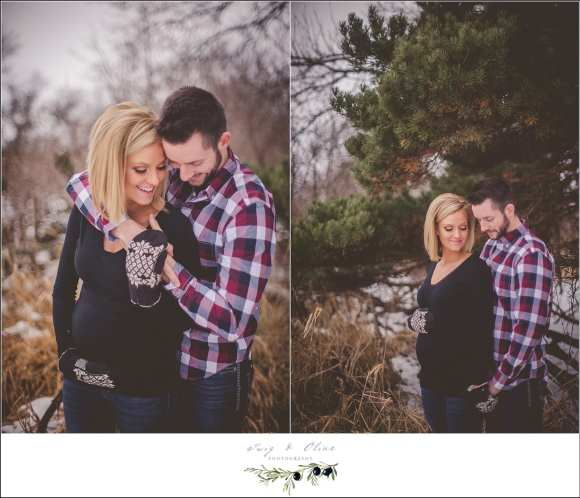 plaid and winter maternity