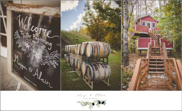 vineyard wedding details